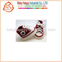 Kids handmade crochet fashion baby girls dress shoes