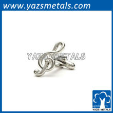 customized high quality metal musical note cufflinks