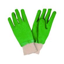 Interlock Liner Handschuh mit Latex beschichtetes gestricktes Handgelenk, Falten fertig