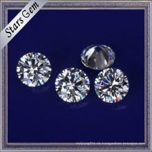 Aaaaa High Grade Clear White Synthetische Zirkonia Steine für CZ Schmuck