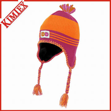 Winter Custom Acrylic Knit Hat with Earflap