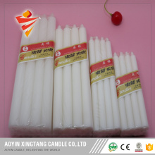 Long burning white paraffin wax candle