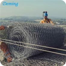 плетение гальванизированная коробка gabion ячеистой сети
