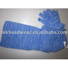 100% acrylic machine knitted hat&glove&scarf sets
