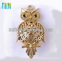 Zinc Gold Alloy Owl Shape charm Beads with lead nickel free CH184#