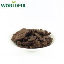 30% de gâteau aux graines de thé noir saponin pour l'élevage de crevettes, semoule de graines de thé avec de la paille / sans paille