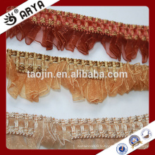 Stock Closeout Polyester Curtain Fringe Manchable Fringe Garnitures