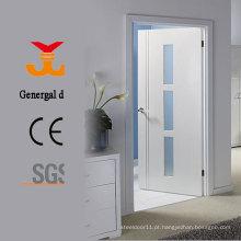 Portas de vidro lacado brancas de madeira
