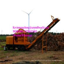 Machine en bois mobile de broyeur de broyeur de broyeur de moignon de branche de broyeur de moteur diesel