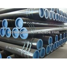 Tuyau en acier sans carbone carbone ASTM A106 Gr B / ASTM A53 / SS400 / ST52