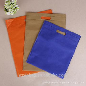 Heiße verkaufende wiederverwendbare Waren, die nicht gesponnene stempelgestanzte Beutel für Verpackungs-Beutel, Kleidungs-Tasche fördern