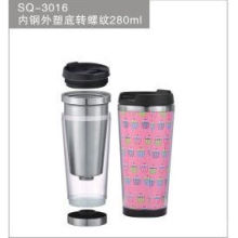 16oz Stainless Steel Travel Tumbler with Customized Logo