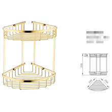 Gold Double Layer Bathroom Basket