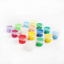 tintas de água de seis cores