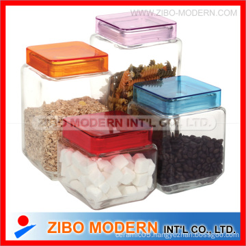 Glass Conister with Plastic Lid