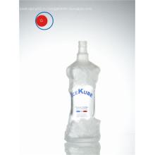 Трафаретная печать Узкий рот Уникальная резная стеклянная бутылка