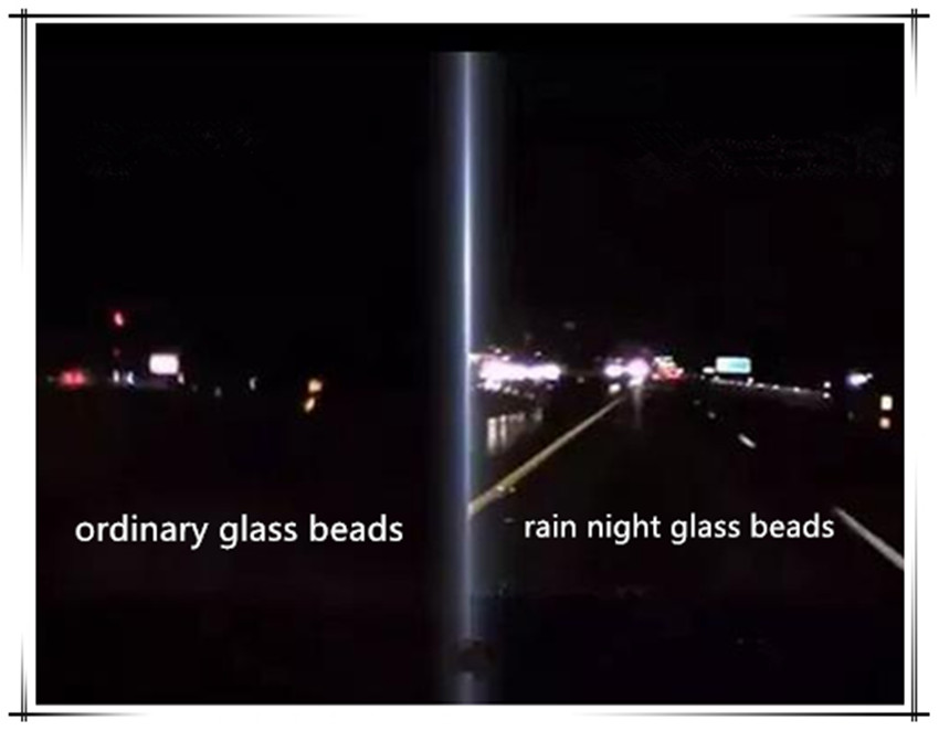 hight reflective rain night glass beads