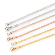 Diferentes tipos de jóias de colar de jóias de ouro projeta meninas, colar de germânio em aço inoxidável