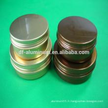 De beaux jarres en aluminium pour soins cosmétiques