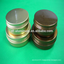 Beautiful aluminum jars for cosmetic care