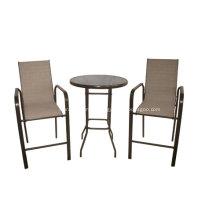 Mobília ao ar livre 3pc conjunto de barra funda