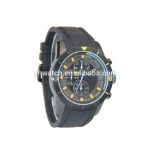 Manufacturer Promotional alloy case silicone band watches men