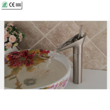 Brush Nickle Brass Teapot Waterfall Basin Faucet (Q13808HS)