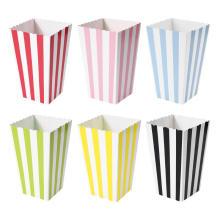 Mini-boîtes à pop-corn multicolores en papier-cadeau-cadeau-sac-bon-en-cas-idéal-pour-un-grand-film-thème-soirée-film