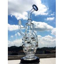 Ovo Crânio Fabergé Recyler Klien Vapor Rig Oil Rigs 14 milímetros Joint Mini Size Water Water Pipe Hbking Smoking Pipe