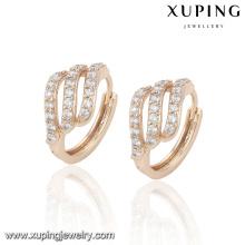Pendiente chapado en oro del nuevo diseño de la joyería 23016-Xuping con Zircon