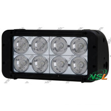 7.5inch 80W CREE IP68 LED Work Light Bar, Double Row Offroad Light Bar