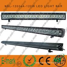 IP67, 120W LED fora da barra de luz da estrada, Spot / Flood / Combo 24PCS * 5W Creee LED da barra da luz da estrada