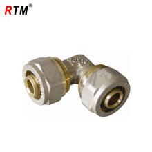 raccords de tuyauterie de compression en laiton double coude