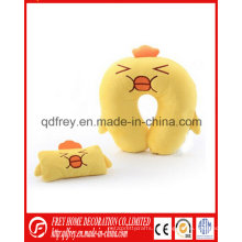 OEM personalizado almohada de cuello de pollo de felpa con máscara de ojo