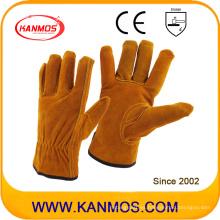 Industrial Seguridad Brown Cowhide Split Hand Drivers guantes de trabajo de cuero (11201)