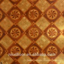 Revestimento de pisos em madeira maciça em camadas N35PEAR FLOWER PARQUET FLOOR OAK