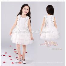 La robe blanche de partie occidentale de couleur de partie de genou porte la robe de robe de boule pour la fille 13 année