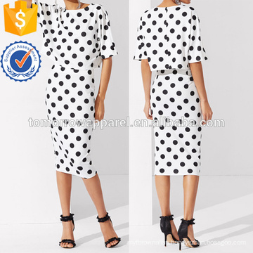 Polka Dot Tee & Skirt Manufacture Wholesale Fashion Women Apparel (TA4030SS)