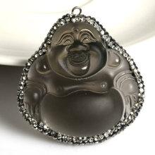 Hot Sale Fashion Buddha Semi Precious Stone Gemstone Jewelry Pendant Necklace Jewelry-Buddha