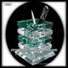K9 Green and White Crystal Pen Holder