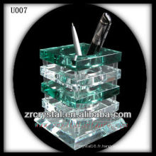 K9 Porte-plume en cristal vert et blanc