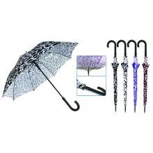 Wasser-Kräuselungs-Druck-Fiberglas-windundurchlässiger Regenschirm (YS-SM23083907R)