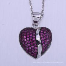 2018 Nuevo día de San Valentín regalo cooper parejas amantes de la moda Corazón colgante collar