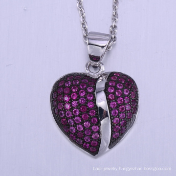 2018 New Valentine's Day Gift cooper fashion couples lovers Heart pendant Necklace