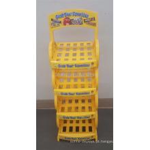 Yellow Powdered Custom Multi-Layer Snack Food Store Suplemento de algodão Chocolate Bar Box Display Stand