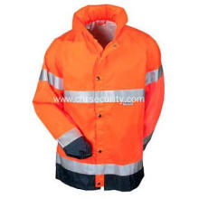 Men's Hi Vis Orange Waterproof Rain Jacket
