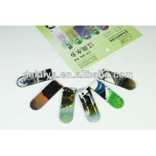 Promotional folding magnetic bookmark for books