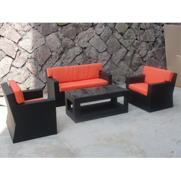 Conjunto de sofá 1 vime ao ar livre Design simples tecido secional