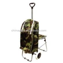 Einkaufswagen mit Stuhl