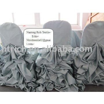 Tafetán boda silla cubierta
